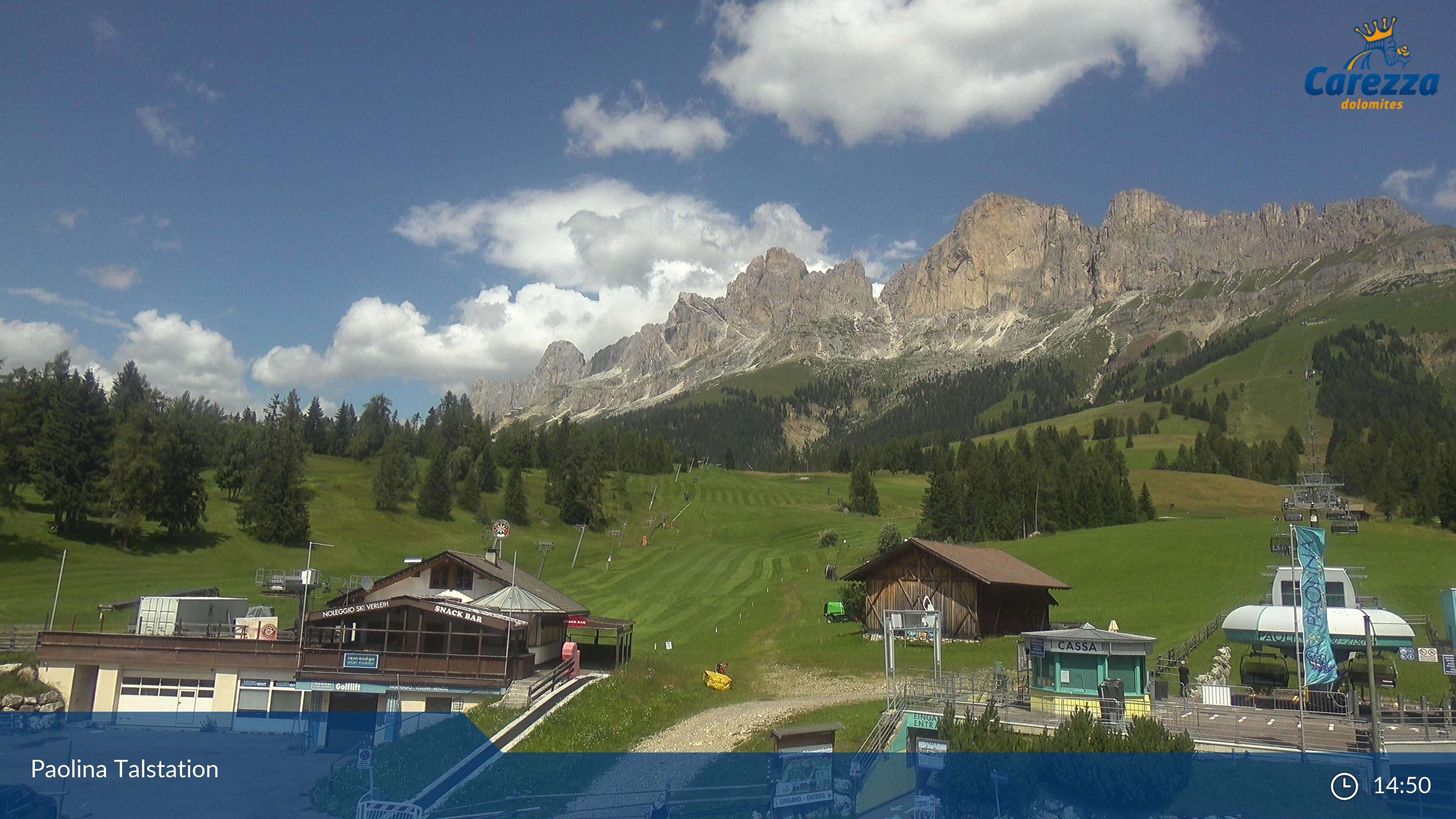 Carezza webcam - Paolina ski station