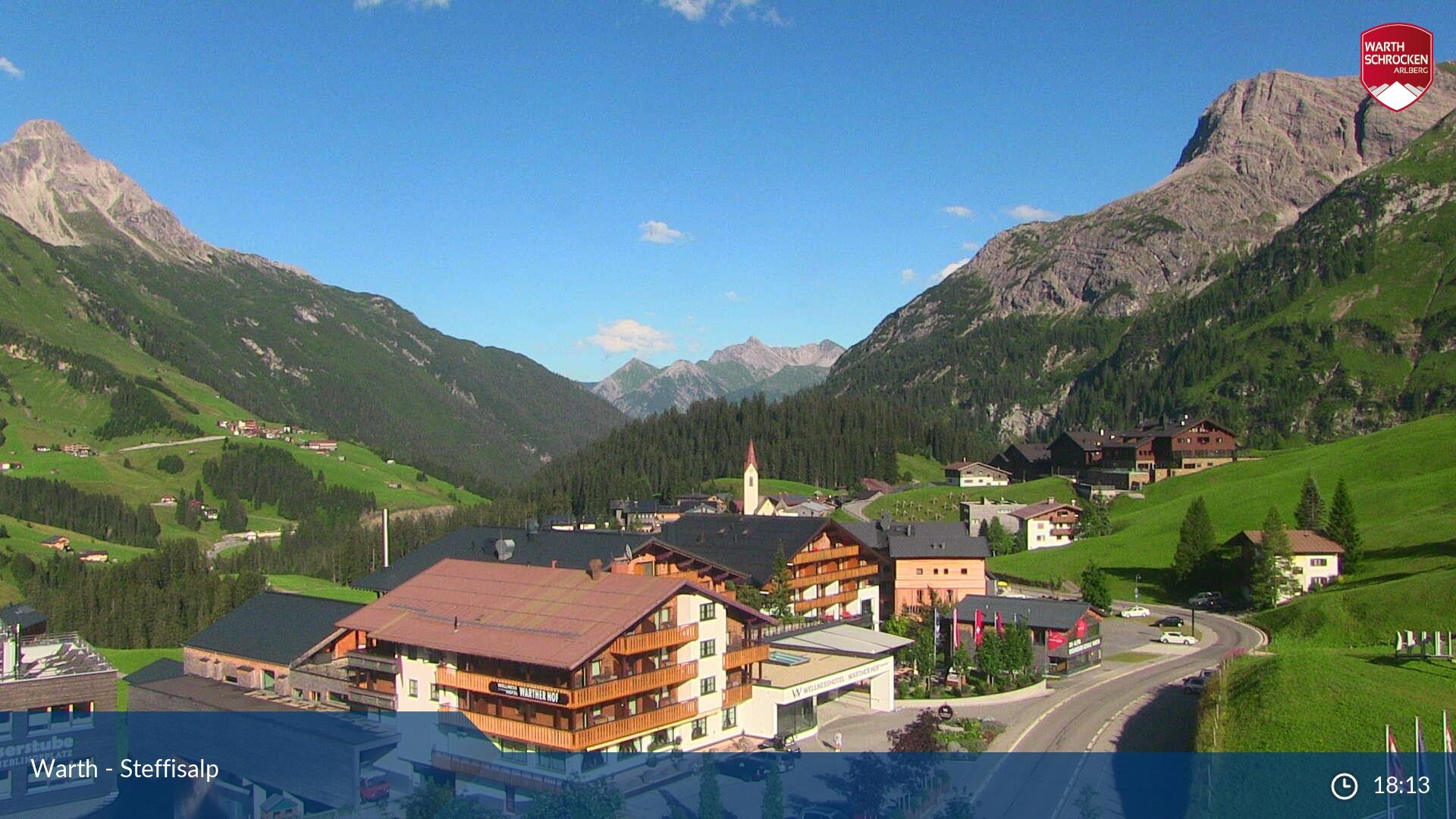 Ski Arlberg - Warth webcam - Steffisalp
