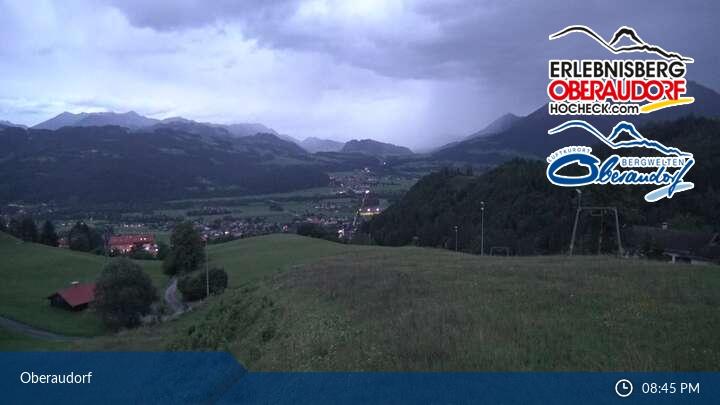 Blick auf das Skigebiet Oberaudorf-Hocheck