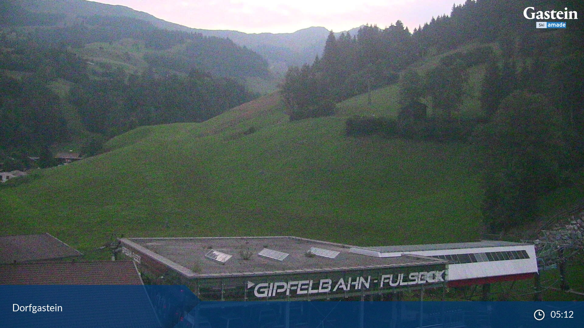 Webcam en Dorfgastein - Fulseck Talstation, Bad Gastein (Austria)