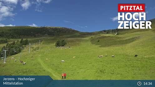 Webcam Jerzens Hochzeiger Skigebiet Mittelstation